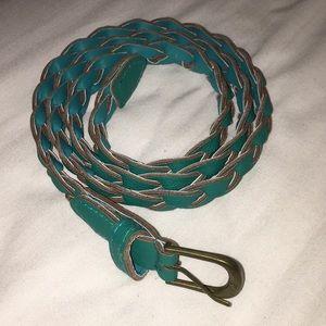 Accessories - Blue/Green Braided Belt
